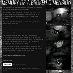 Memory of a Broken Dimension by xra