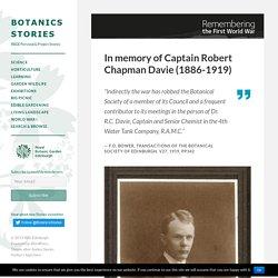 In memory of Captain Robert Chapman Davie (1886-1919)