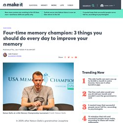 USA Memory Champion Nelson Dellis: How to improve your memory