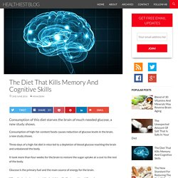 The Diet That Kills Memory And Cognitive Skills - Healthiest Blog