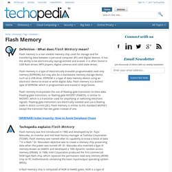 What is Flash Memory? - Definition from Techopedia