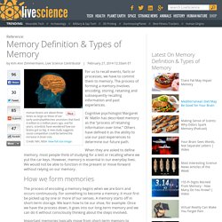Memory Definition & Types of Memory