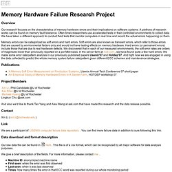 Memory Failure Project