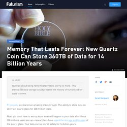 storage of 360TB of Data for 14 Billion Years