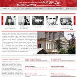 Memory at Work: A Guide for Lebanese on Peace and War - ديوان الذاكرة اللبنانية: دليل اللبنانيين إلى السلم والحرب