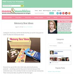Memory Box Ideas for Kids