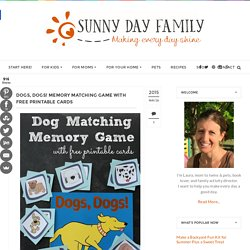 Dogs, Dogs! Memory Matching Game with Free Printable Cards