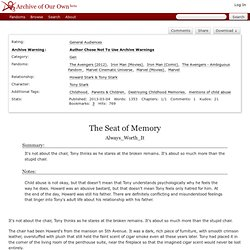 The Seat of Memory (Mentions of Child Abuse)