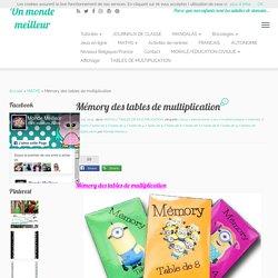 Mémory des tables de multiplication - Un monde meilleur