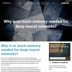 Why is so much memory needed for deep neural networks?