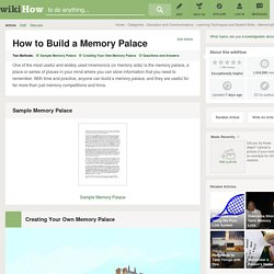 How to Build a Memory Palace (with Sample