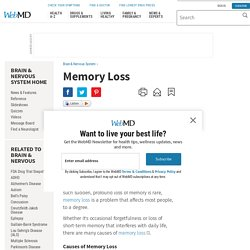 Memory Loss (Short- and Long-Term): Causes and Treatments
