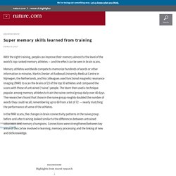 Super memory skills learned from training
