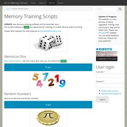 Free Memory Training Software and Games