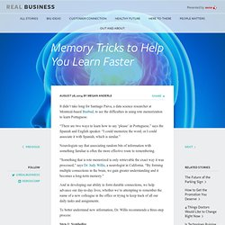 Memory Tricks to Help You Learn by Real Business