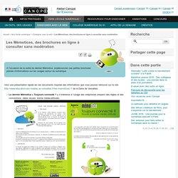 Les Mémotices, des brochures en ligne à consulter sans modération - Atelier Canopé de l'Essonne