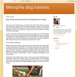 Memphis dog trainers: Dog Trainer Dos and Don'ts For Socializing Your Puppy