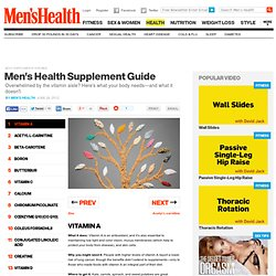 The Supplement Center at MensHealth.com