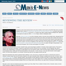 Men's E-News - Reviewing the Review