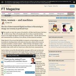 Men, women – and machines