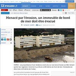 Menacé par l'érosion, un immeuble de bord de mer doit être évacué