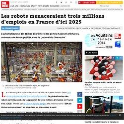Les robots menaceraient trois millions d'emplois en France d'ici 2025
