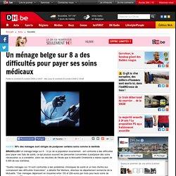 Un ménage belge sur 8 a des difficultés pour payer ses soins médicaux
