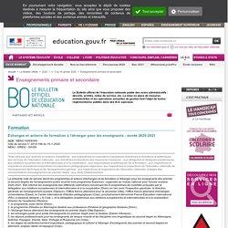 BO : Echanges d'enseignants avec l'étranger