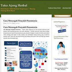 Cara Mencegah Penyakit Pneumonia Pada Anak