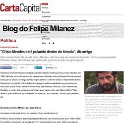 """""""Chico Mendes está pulando dentro do túmulo"""", diz amigo"""