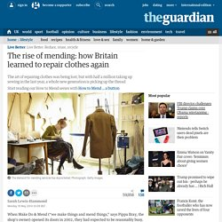 The rise of mending: how Britain learned to repair clothes again