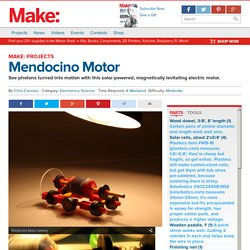 Mendocino Motor: See Photons Turned into Motion