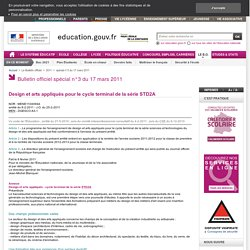 Design et arts appliqués (EO) - BO n°3 du 17 mars 2011