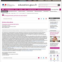 BOEN - Actions éducatives