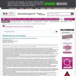 APPLICATION DE LA REGLE, mesures de prévention et sanctions (BO mai 2014)
