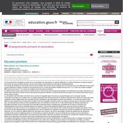 Refondation de l'éducation prioritaire - MENE1412775C