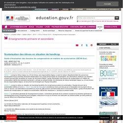 Guide d'évaluation des besoins de compensation en matière de scolarisation (GEVA-Sco)