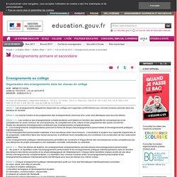Arrêté sur l'organisation des enseignements (2015)
