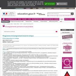 Programmes EMC cycles 2, 3, 4 - Bulletin Officiel de l'EN