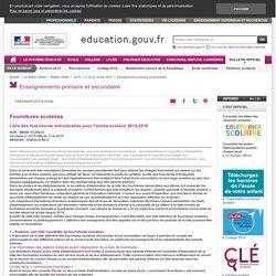 La liste des fournitures scolaires pour la rentrée 2015 : BO du 18 juin 2015
