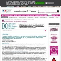 Protocole d'accord de l'exception pédagogique, 22 juillet 2016