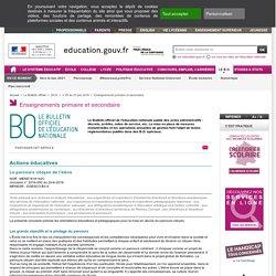 Education.gouv : Le parcours citoyen de l'élève