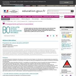 Programme d'actions éducatives 2016-2017