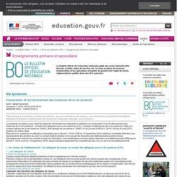 Instances de vie lycéenne_composition et fonctionnement_ circulaire du 20-9-2016