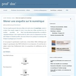 Mener une enquête sur le numérique - prof' doc'
