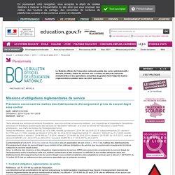 PROFS du PRIVE - ORS et IMP (BO 25 juillet 2015)