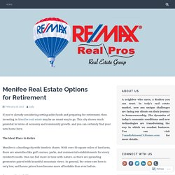 Menifee Real Estate Options for Retirement