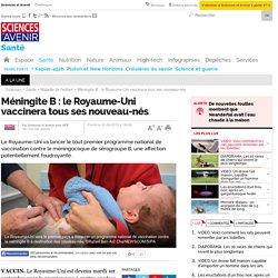 Méningite B : le Royaume-Uni vaccinera tous ses nouveau-nés
