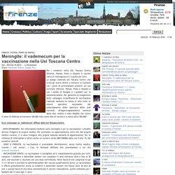 Meningite: il vademecum per la vaccinazione nella Usl Toscana Centro