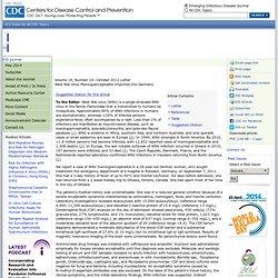 CDC EID – OCT 2012 – West Nile Virus Meningoencephalitis Imported into Germany